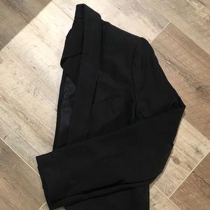 Club Monaco Black Silk Crop Jacket